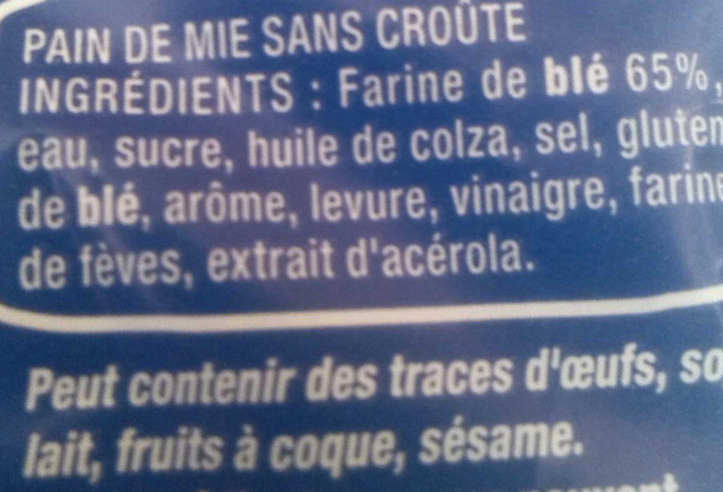 American Sandwich Nature - Ingredienti - fr