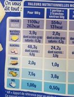American Sandwich Nature - Valori nutrizionali - fr