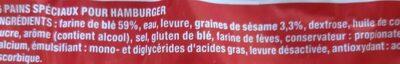 Harrys le moment burger sesame geant x6 - Ingredienti - fr