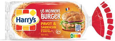 Harrys le moment burger pavot sarrasin x4 - Prodotto - fr