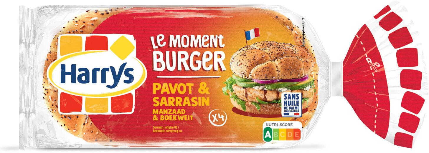 Le moment burger Pavot & Sarrasin - Produit - fr