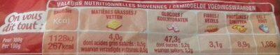 Le moment burger Pavot & Sarrasin - Informations nutritionnelles - fr