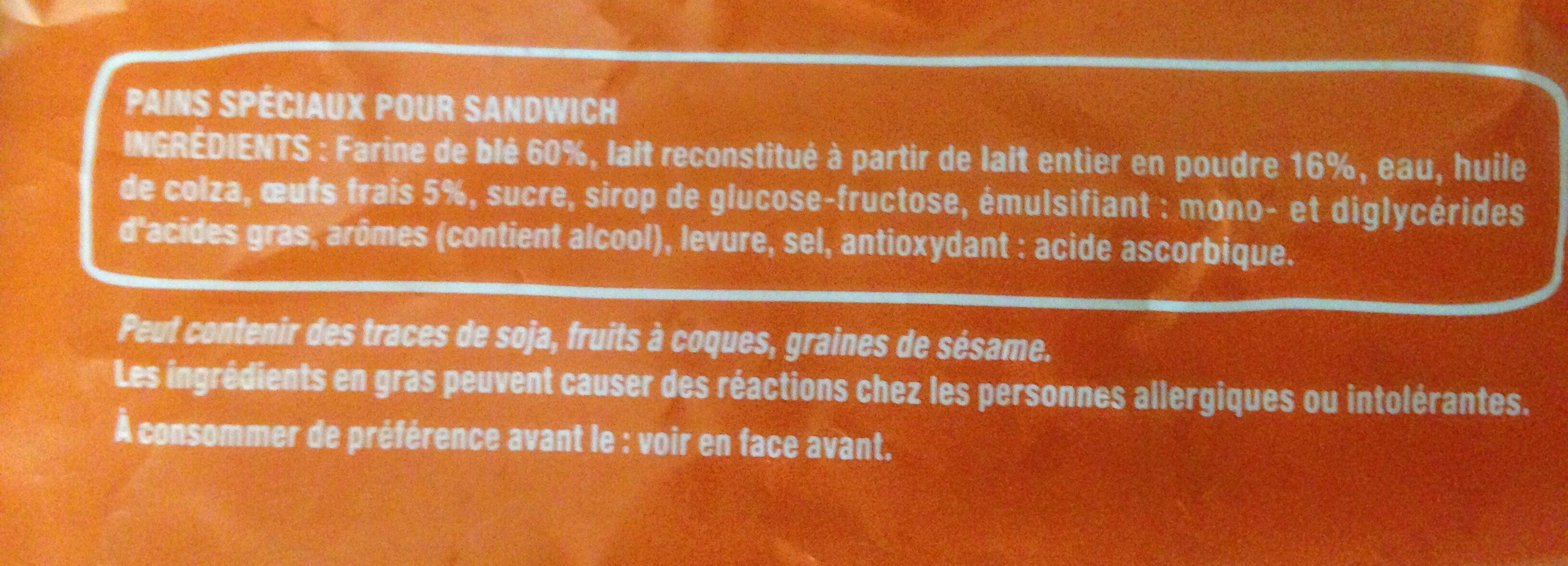 Pains pour sandwich - Ingredienti - fr