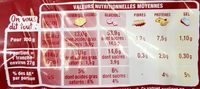 Brioche tranchée nature - Informazioni nutrizionali - fr