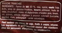 Brioche tranchée nature - Ingredientes - fr