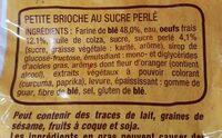 Harrys brioche mini tressee nature au sucre perle - Ingrediënten - fr
