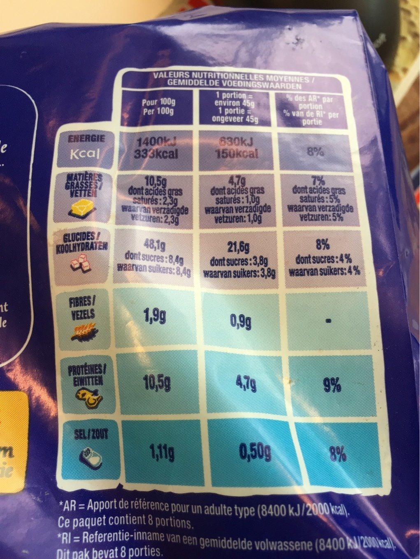Sandwich au lait - Valori nutrizionali - fr