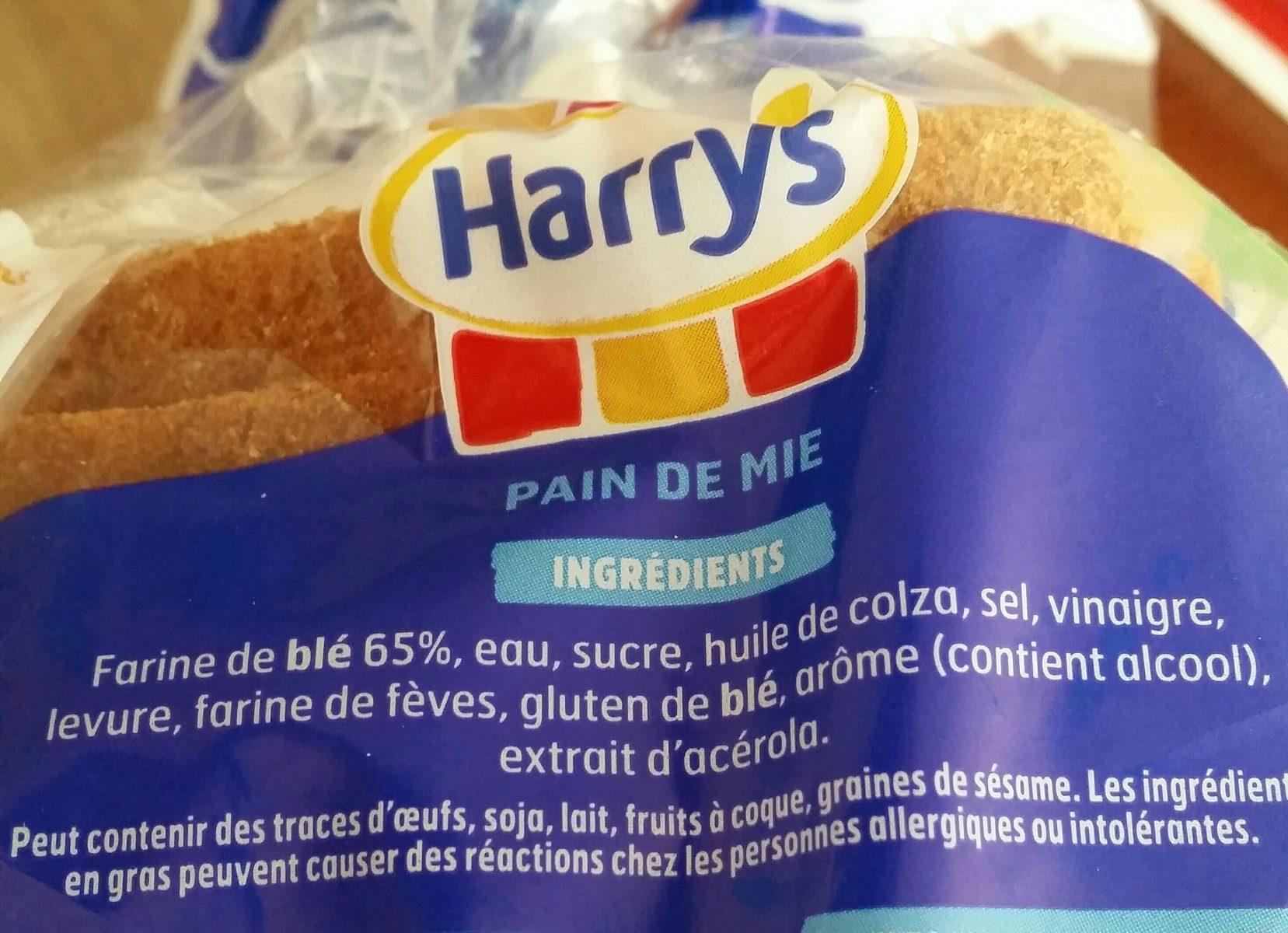 Harrys pain de mie american sandwich nature - Ingrediënten - fr