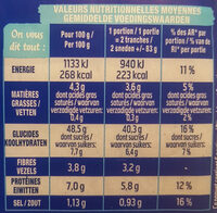 Pain 100% mie nature GT - Nutrition facts - fr
