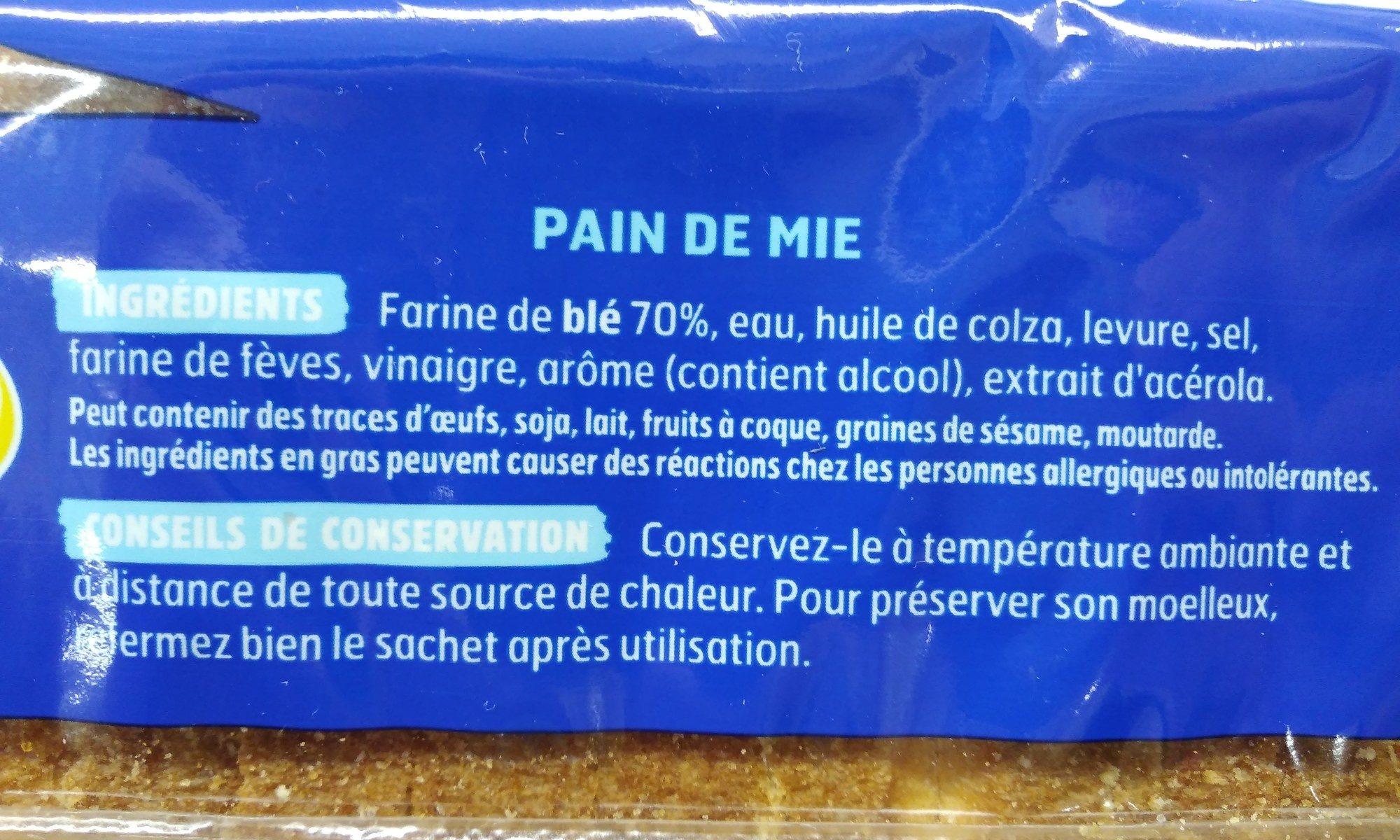 Pain EM nature sans sucres ajoutés - Ingrediënten - fr