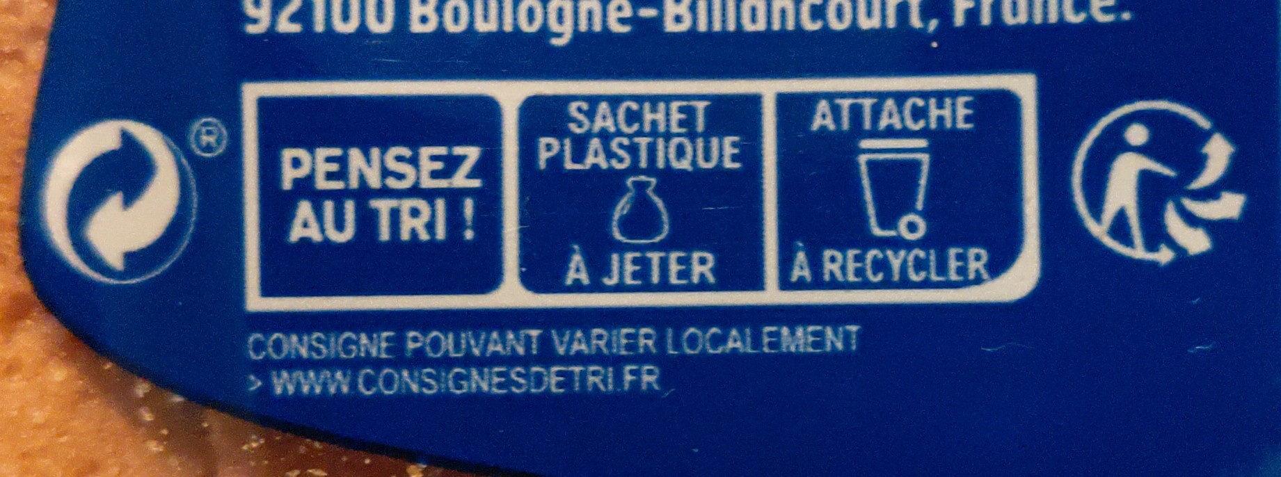 Pain EM nature sans sucres ajoutés - Istruzioni per il riciclaggio e/o informazioni sull'imballaggio - fr