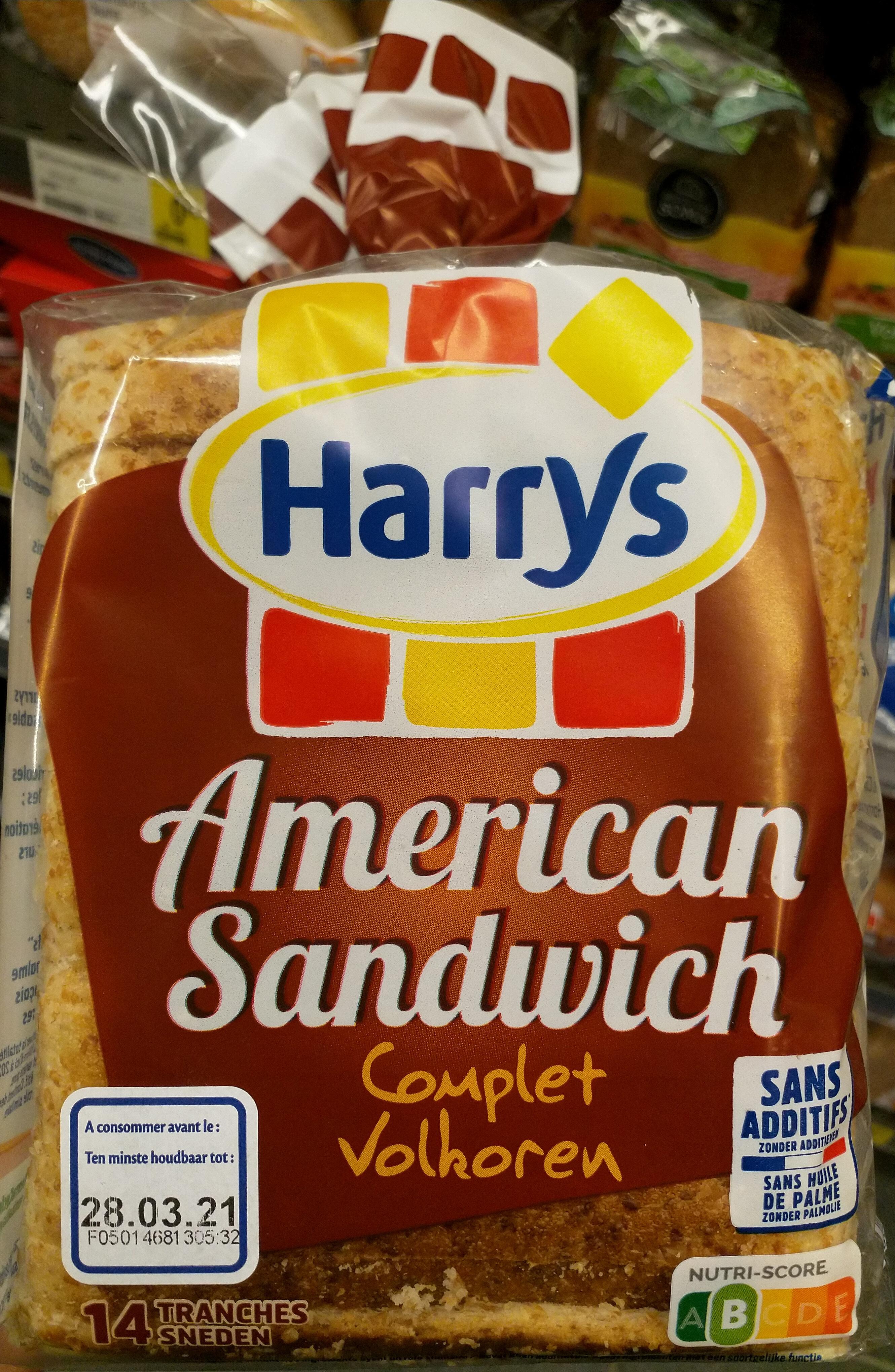 Pain de mie américan sandwich complet - Prodotto - fr