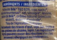 Harrys pain de mie bio sans croute 100% mie nature - Ingrédients - fr