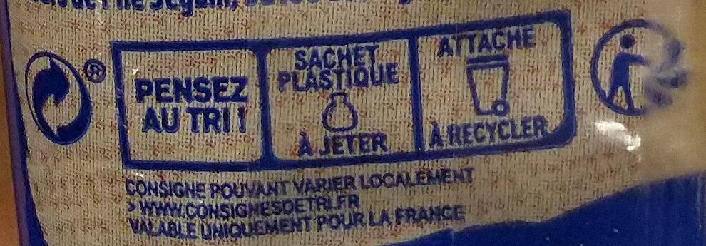 Harrys pain de mie bio sans croute 100% mie nature - Istruzioni per il riciclaggio e/o informazioni sull'imballaggio - fr
