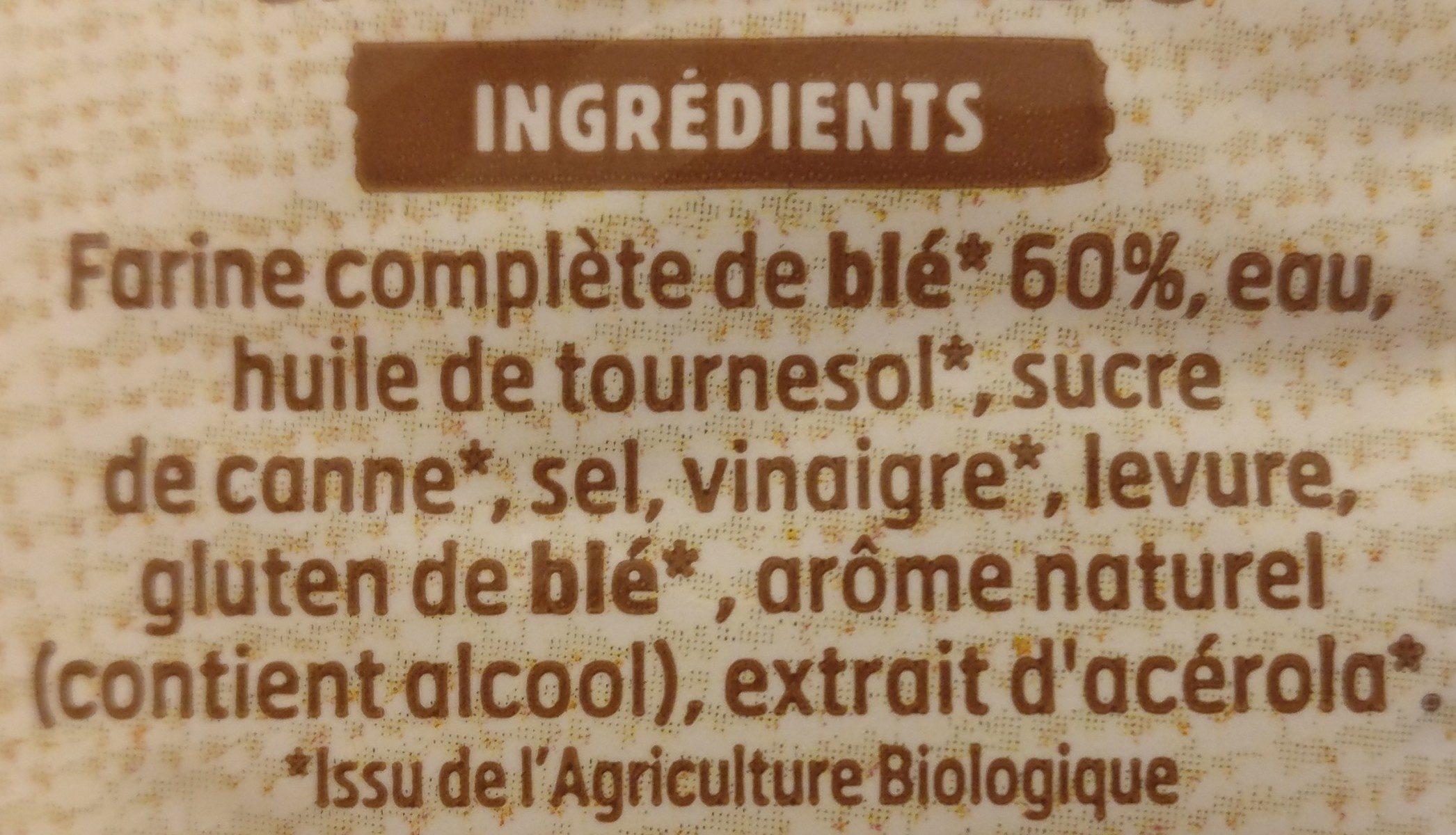 Harrys pain de mie bio sans croute 100% mie complet - Ingredients - fr