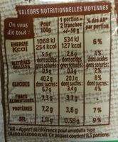 Harrys pain de mie bio sans croute 100% mie complet - Nutrition facts - en