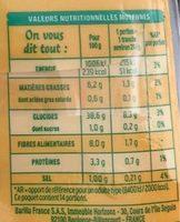 Pain de mie céréales sans gluten - Informations nutritionnelles - fr