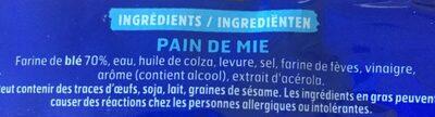 Pain Extra Moelleux nature sans sucres ajoutés - Ingrédients - fr