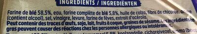 Pain 100% mie nature sans sucre ajouté - Ingredienti - fr