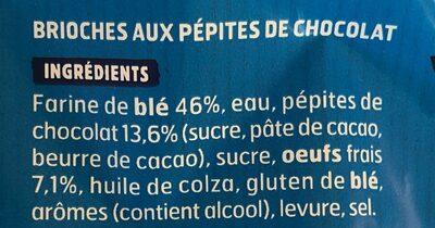 Doo Wap pépites choco sans additif - Ingrédients - fr