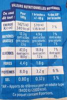 Doo Wap pépites choco sans additif - Informations nutritionnelles - fr