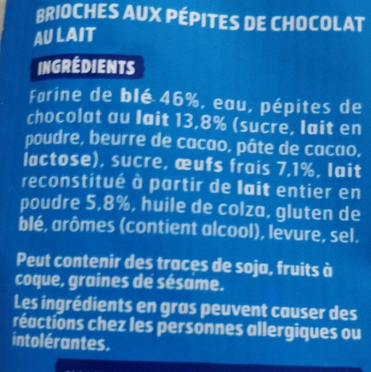 DooWap pépites chocolait ss additif - Ingrédients - fr