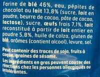 DooWap pépites chocolait sans additif - Ingredients