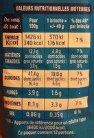 DooWap pépites chocolait sans additif - Nutrition facts