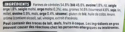 Beau & bon pain de mie farine de ble cereales & graines - Ingredienti