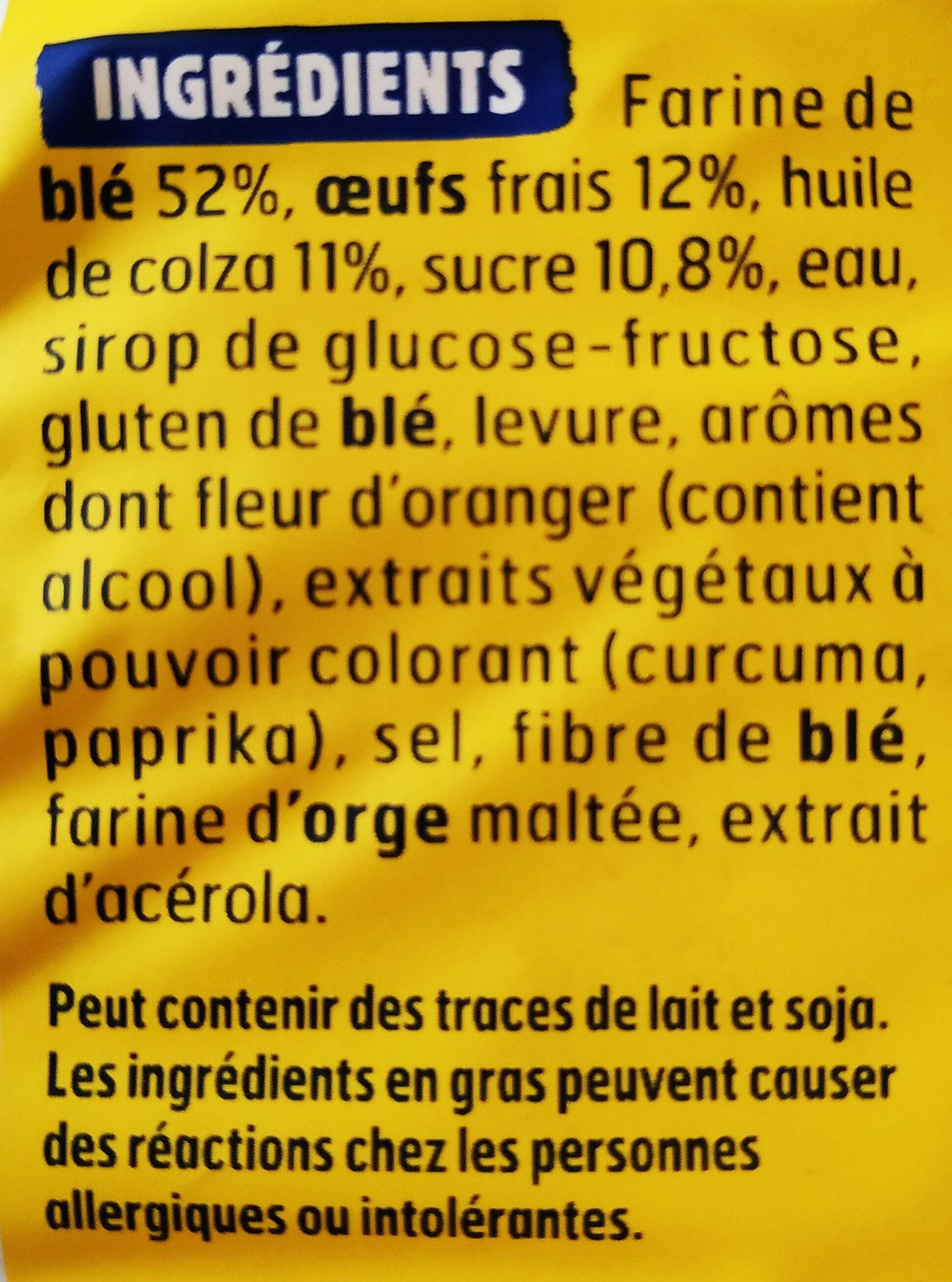 Brioche tressée tranchée sans additif - Ingrediënten - fr