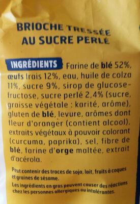 Harrys brioche tressee nature au sucre perle sans additifs - Продукт - fr