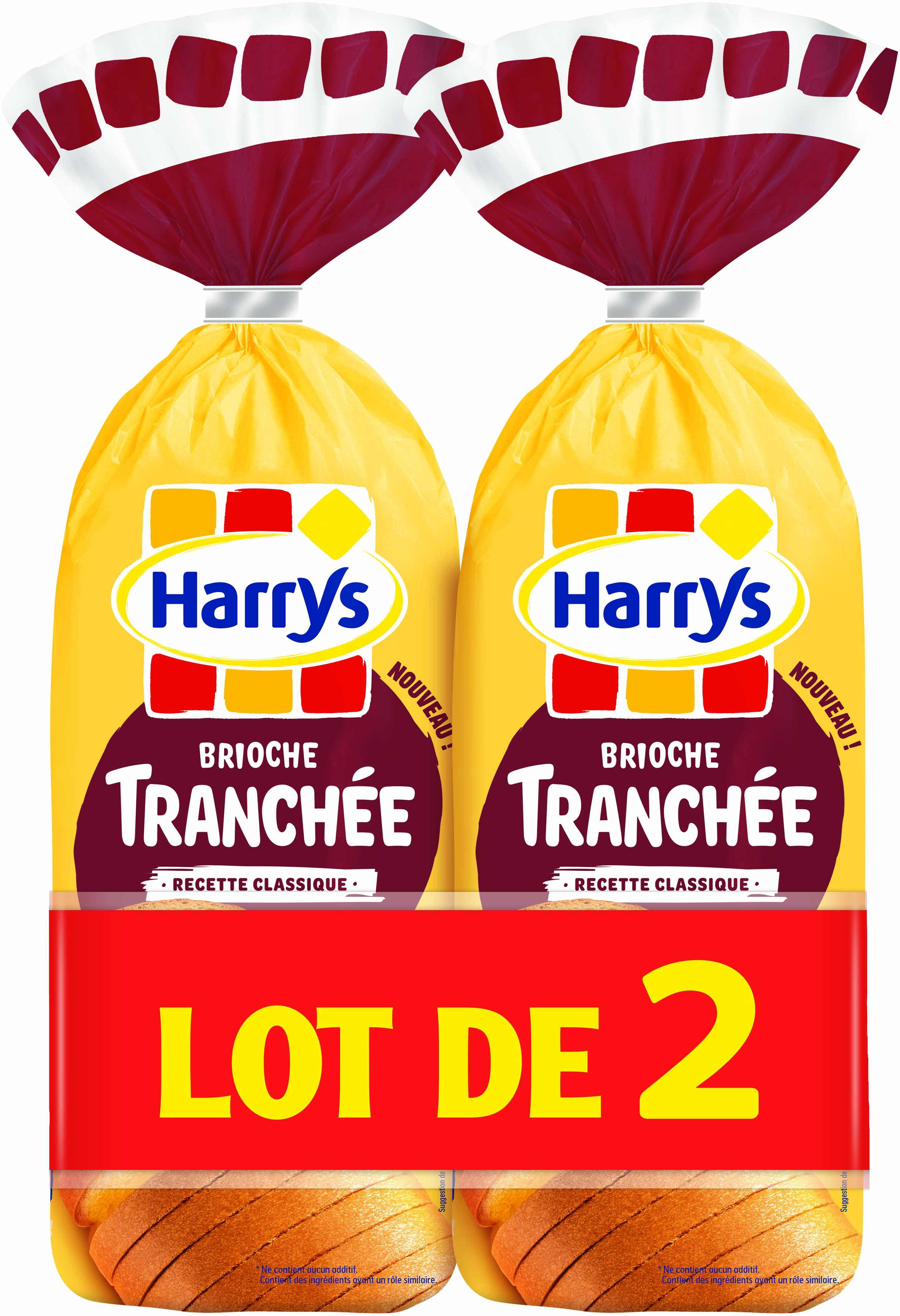 Lot brioches tranchées sans add. x2 - Product - fr