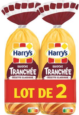 Harrys lot 2 brioches tranchees recette classique nature sans additif - Product - fr