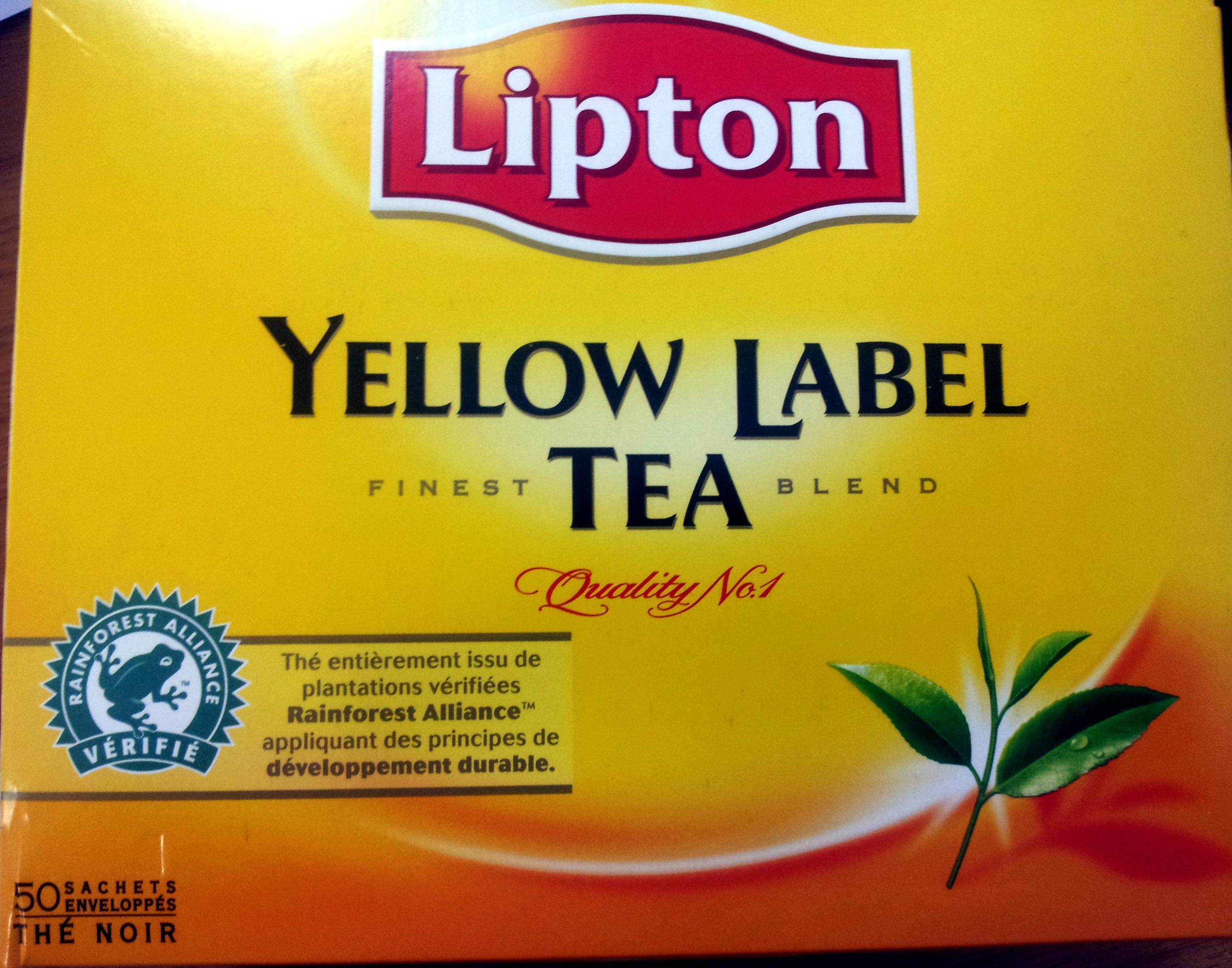 Yellow Label Tea - Produit