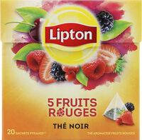 Lipton Thé 5 Fruits Rouges 20 Sachets - Produit - fr