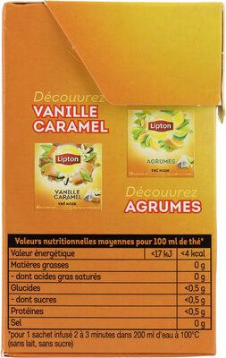 Lipton Thé 5 Fruits Rouges 20 Sachets - Informations nutritionnelles - fr