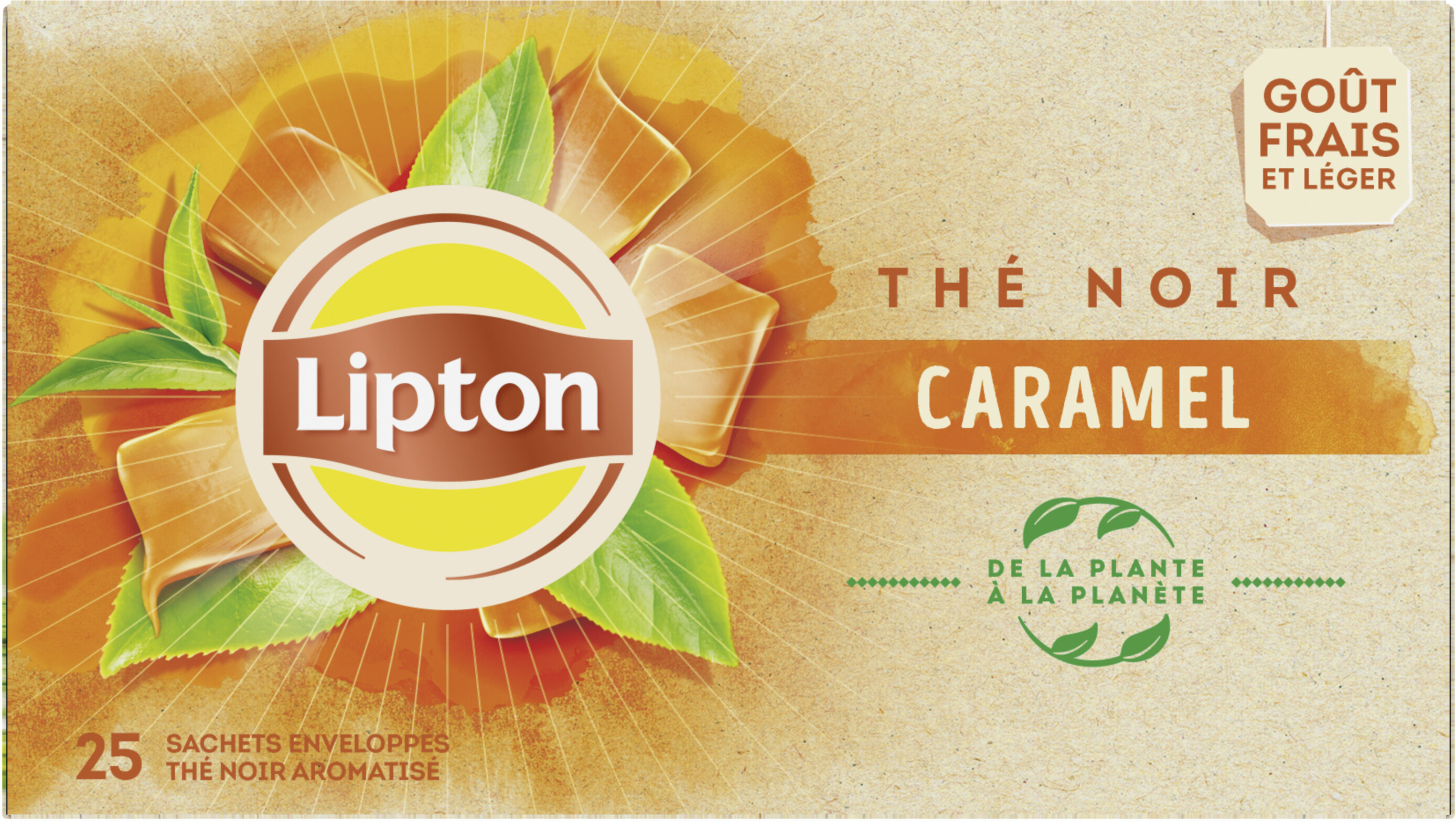 Lipton Thé Caramel 25 Sachets - Product - fr
