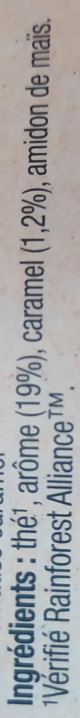 Lipton Thé Caramel 25 Sachets - Ingredients - fr