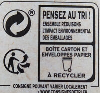 Lipton Thé Caramel 25 Sachets - Recycling instructions and/or packaging information - fr