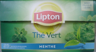 Thé Vert Menthe (25 sachets enveloppés) - Product - fr