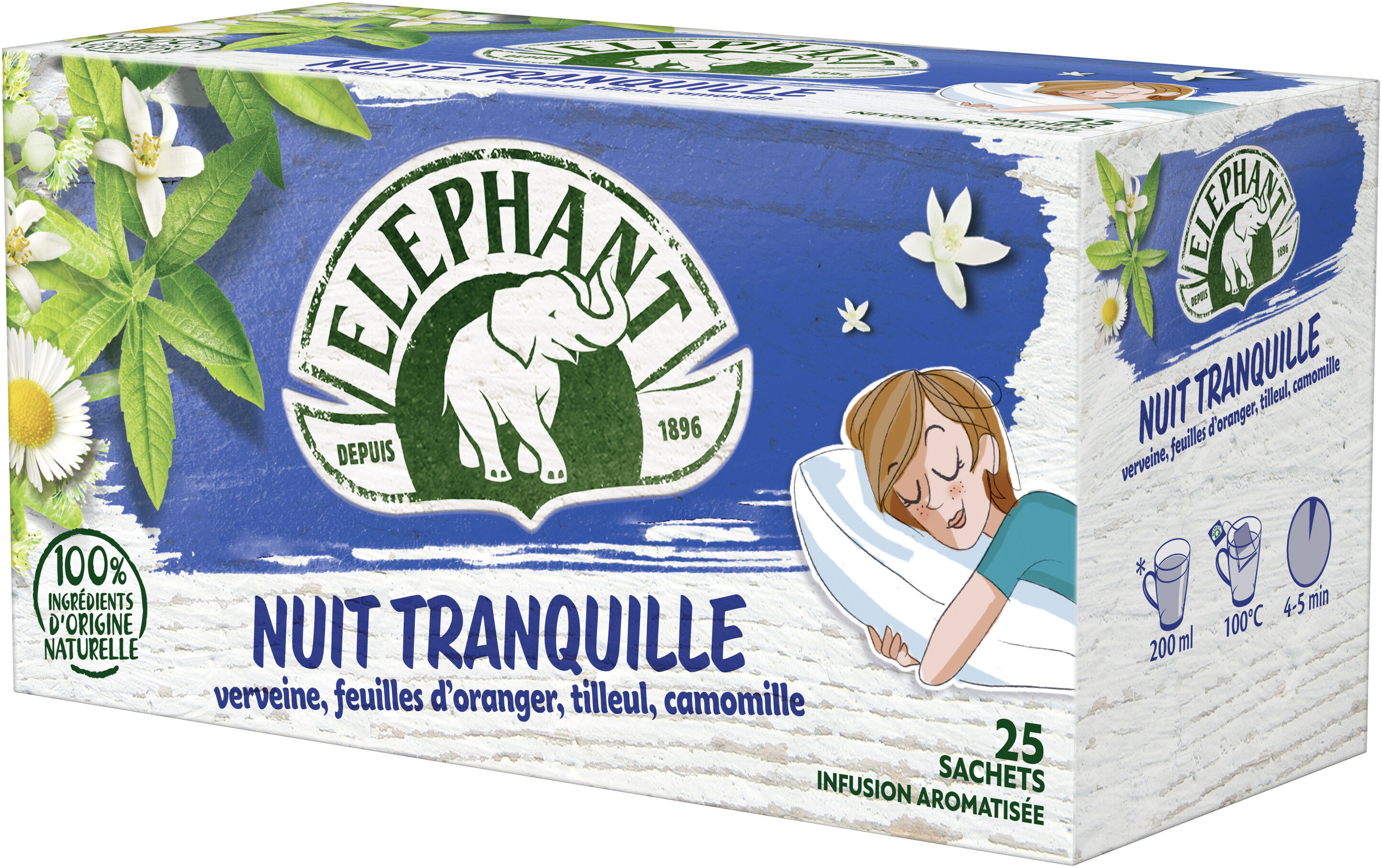 Elephant Infusion Nuit Tranquille 25 Sachets - Product - fr