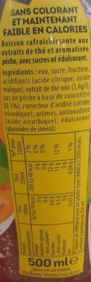Ice Tea saveur pêche - Nutrition facts - en