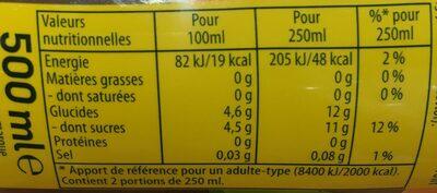 Ice Tea saveur pêche - Valori nutrizionali - fr