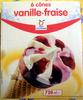 6 cônes vanille-fraise - Produit