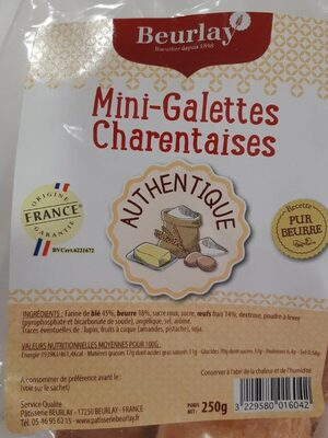 Mini galettes charentaises - Voedigswaarden