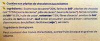 le cookie Chocolat noisettes - Ingrédients - fr