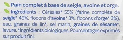 Pain complet 3 céréales - Ingrediënten - fr