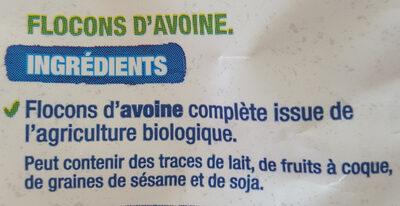 Flocons d'avoine complète - المكونات - fr