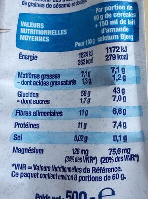 Flocons d'Avoine - Informazioni nutrizionali - fr