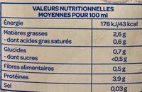 Soja nature sans sucre ajouté bio - Valori nutrizionali - fr